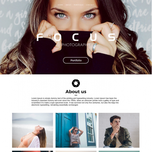 Website Photography Template - Adobe Photoshop And XD