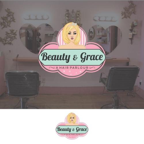 Cute logo for hair salon