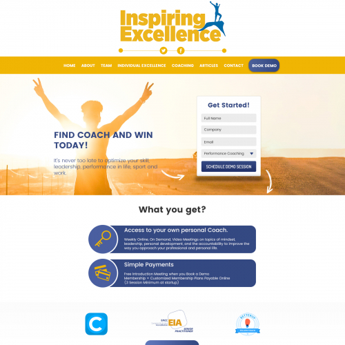 Landing page clean design