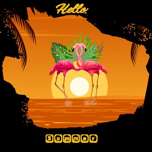 Hello summer on flamingo