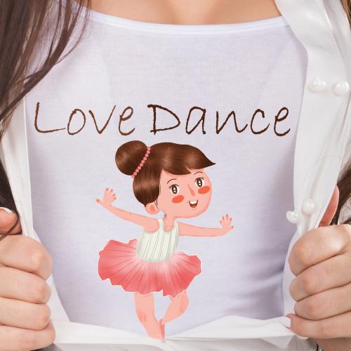Cute girl love dancing girl tshirt paint
