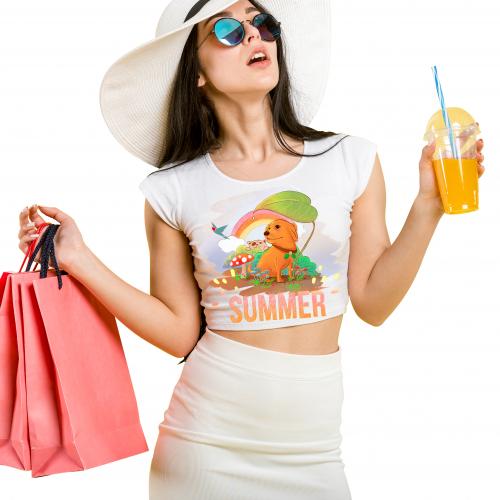 Happy summer tshirt art design