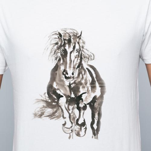 Horse running on tshirt paint art
