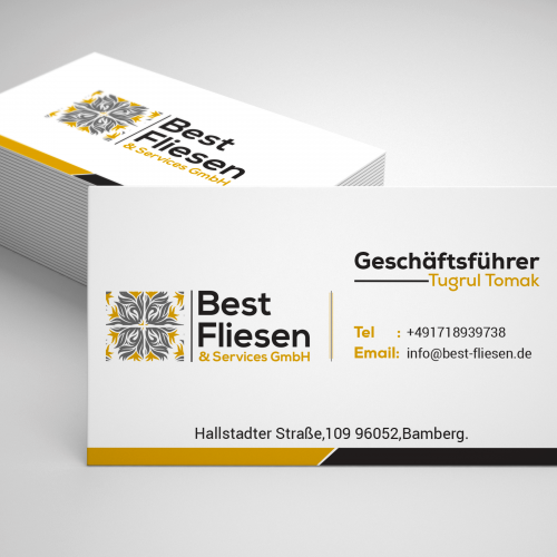 Clean And Modern Business card design.