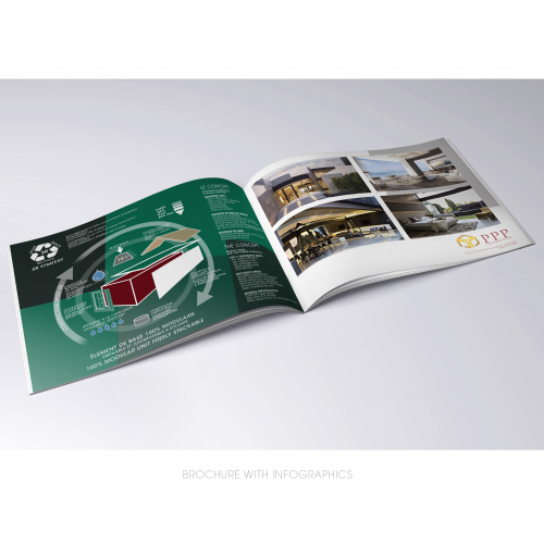 BROCHURE WITH INFOGRAPHICS
