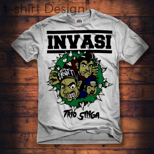 t-shirt design band