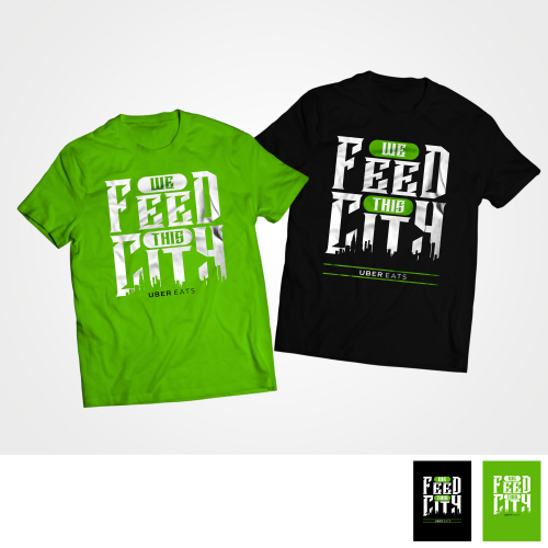 T-shirt design concept for Uber Eats