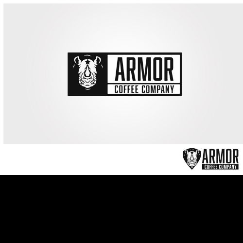 Logo concept for Armor Coffee Company