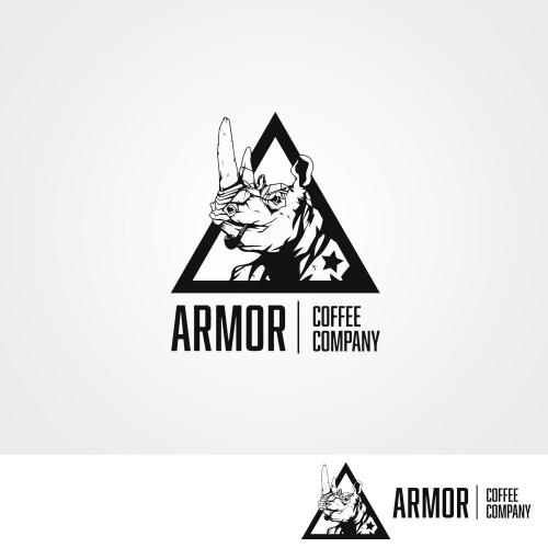 Logo concept for Armor Coffee