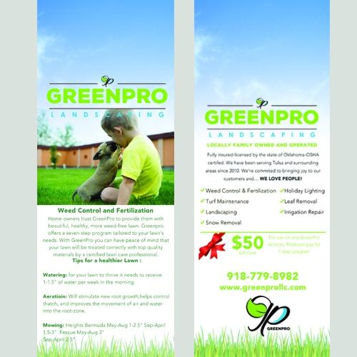 Green Pro Landscaping Door Hanger