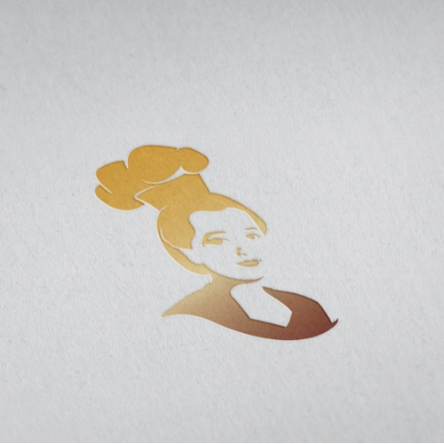 Woman Traditional chef Logo Template