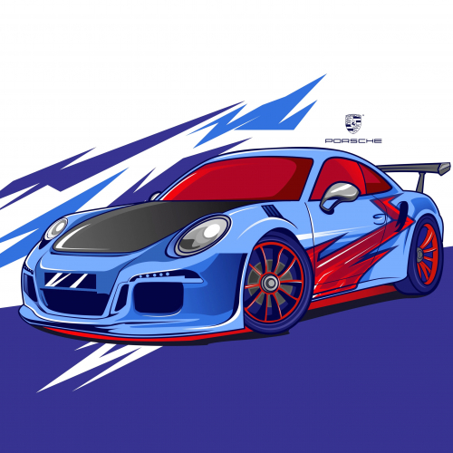 Porsche 911 gt modification vector style