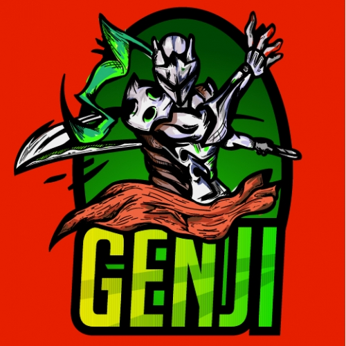 Genji Illustrated Badge