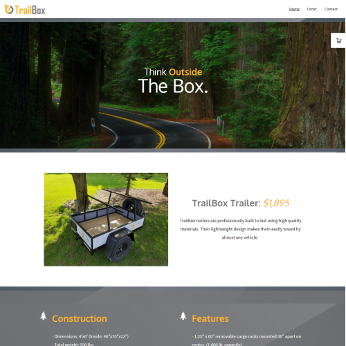 Trailer Website Design