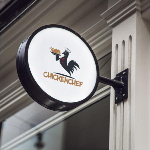 Chicken chef Restaurant Logo