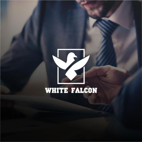 Abstract logo falcon simple logo and flat logo .......