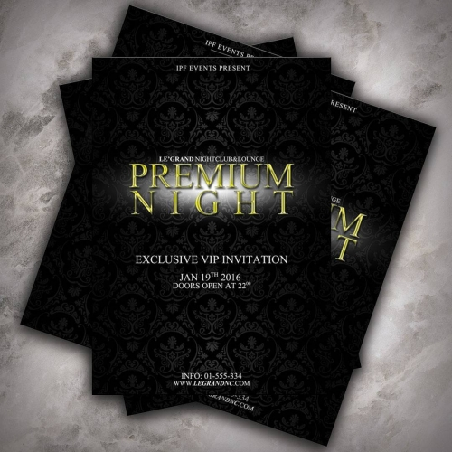 Premium Party Invitation Design