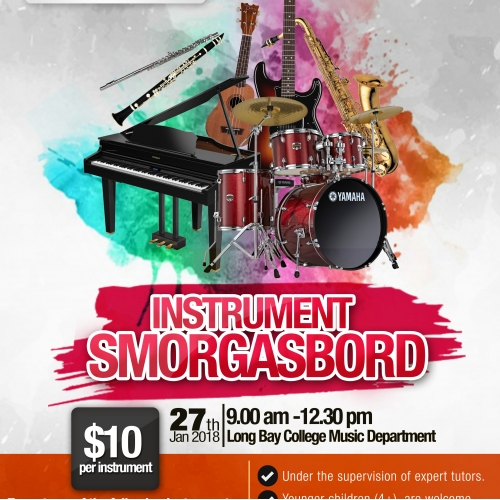 Poster/Flyers for Instrument Smorgasbord