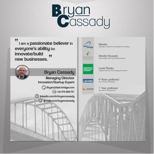 Folded Business card for Bryan Cassady