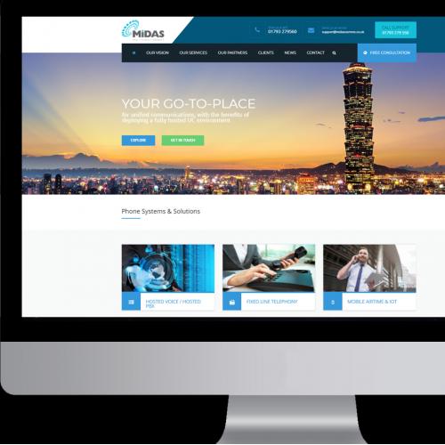 Midas Communications Website