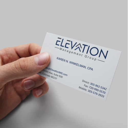 Elevation Business card