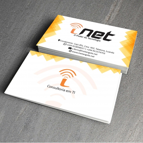 Business card for our client INET