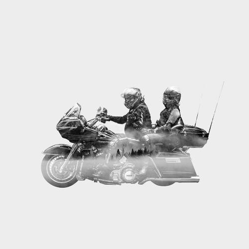 Double Exposure bikers