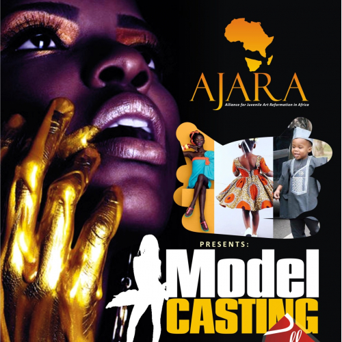 Advertisement Design showcasing African Fabrics