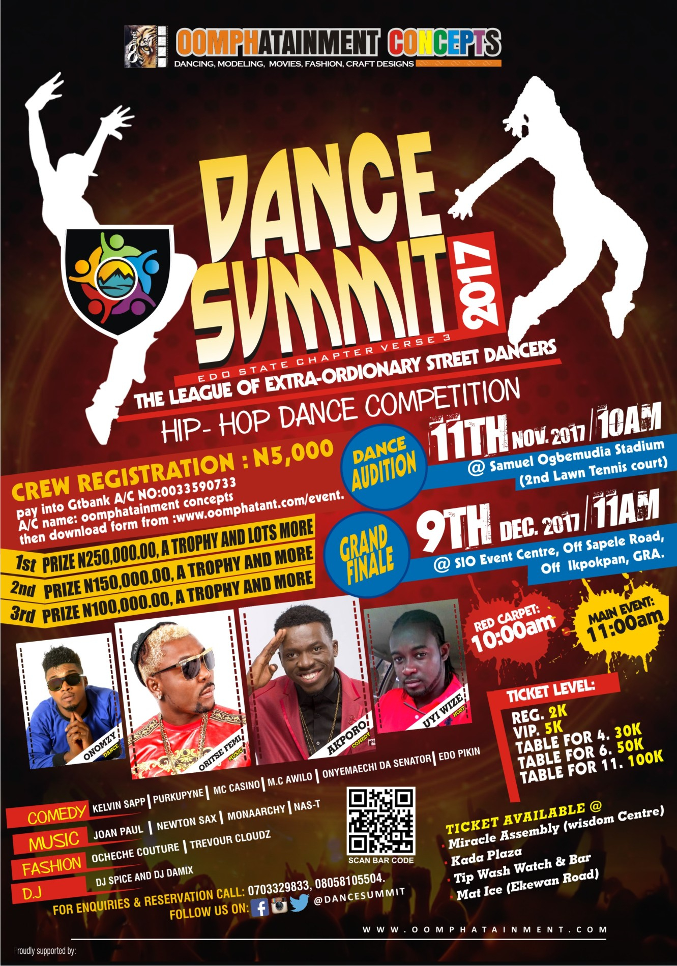An Advertisement design. for dance summit competitions.