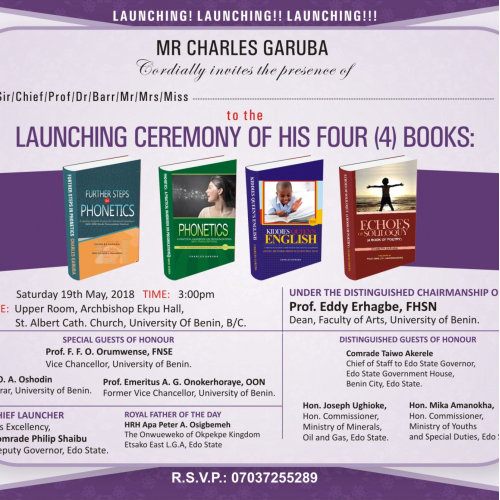 An Advertisement Design on four different books lunchin