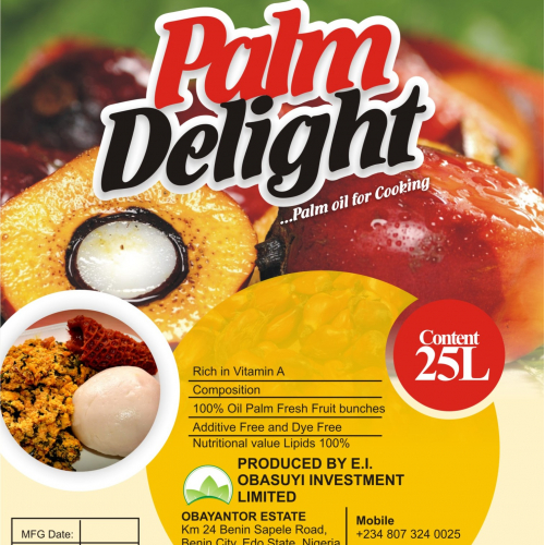 Flyer Design.  Showcasing palm oil delight  delicacies.