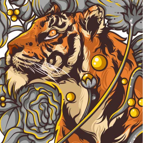 Tiger With Nature