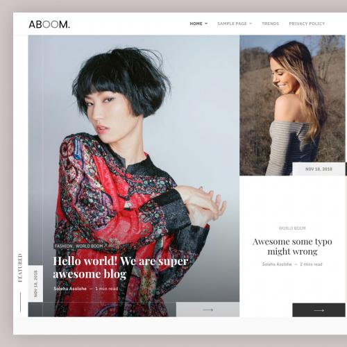 Aboom - Blog WordPress Theme