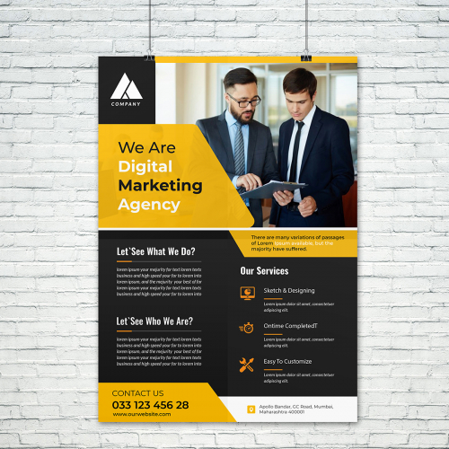 I will design professional flyer, brochure, newsletter