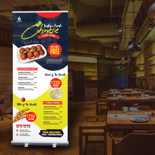 I will design standy roll up banner for your business