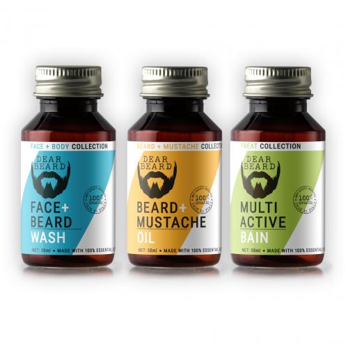 Label design for beard oil treatment