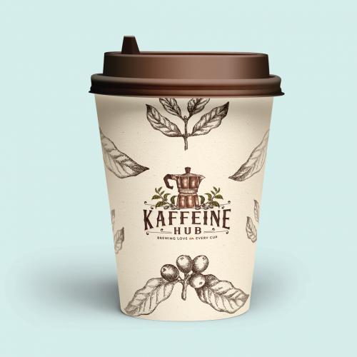 Coffe cup label design