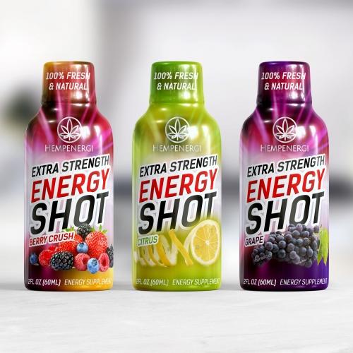 Energy drink label design
