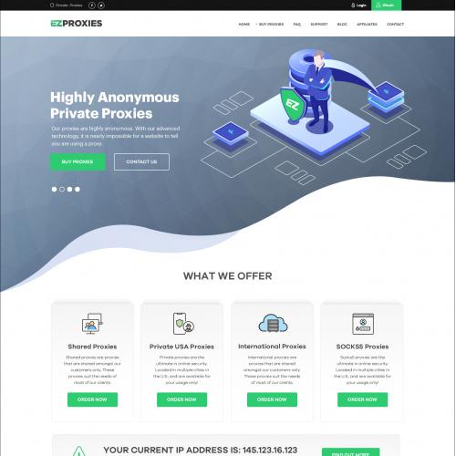 Ez Proxy website design project