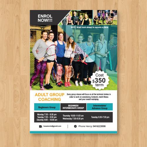 Tennis Poster  Design