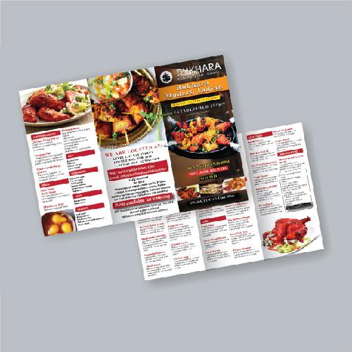 Tri fold Restaurant Menu Designs