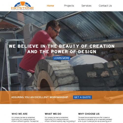 Keystone Construction landing page