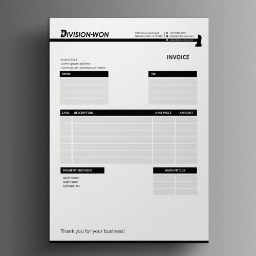 Invoice Design concept