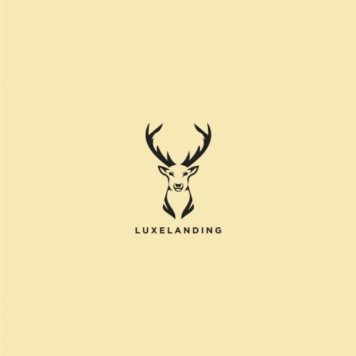 Brand Logo of Simple Design of a Stag (Male Deer) Head,
