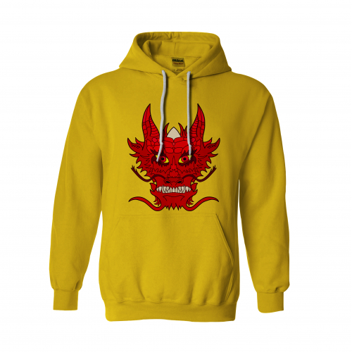 Red Dragon Design For Hoody And T-Shirt