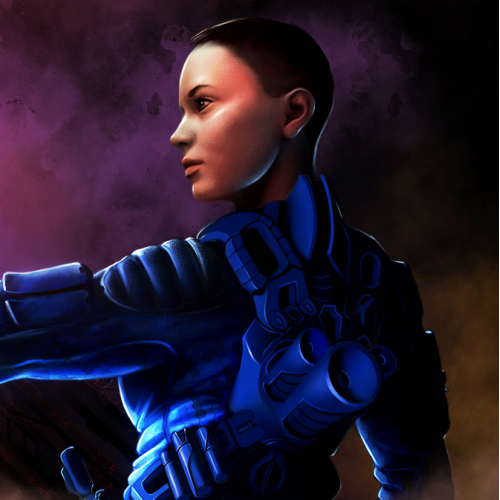 Girl soldier sci-fi concept