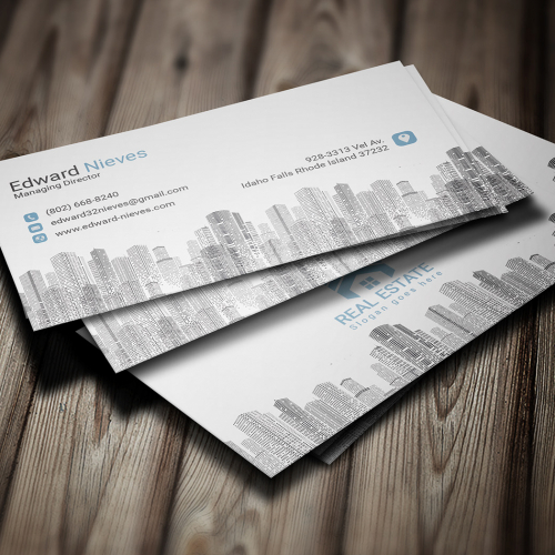 Real-Estate Business card design