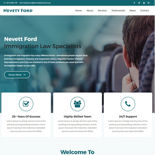 Website design for immigration law company