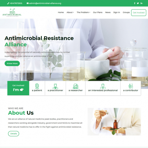 Website Design For Antimicrobial Alliance