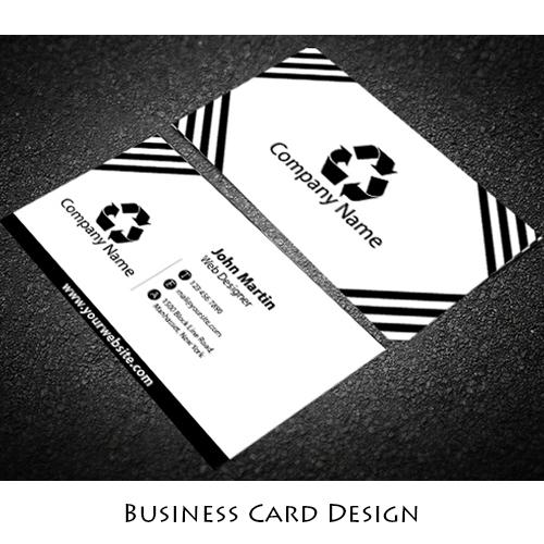 White Business Card Design